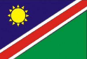 72- Bandera de la República de Namibia