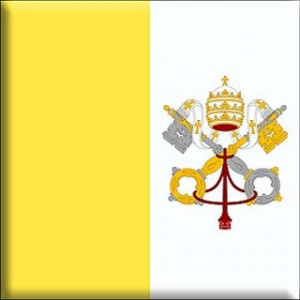 87- Bandera de la Santa Sede - Vaticano - Nunciatura Apostólica