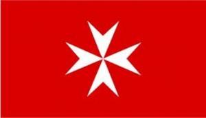92- Bandera de la Soberana Orden Militar y Hospitalaria de San Juan de Jerusalem, de Rodas y de Malta