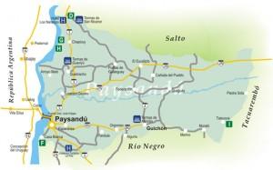 Mapa de Paysandú