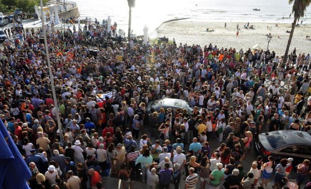 Multitudinario acompañamiento, pese a todos los eventos internacionales que se desarrollaban en Maldonado