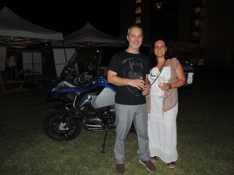 Empresario Alejandro Rodriguez y Sra. en The Grand Hotel
