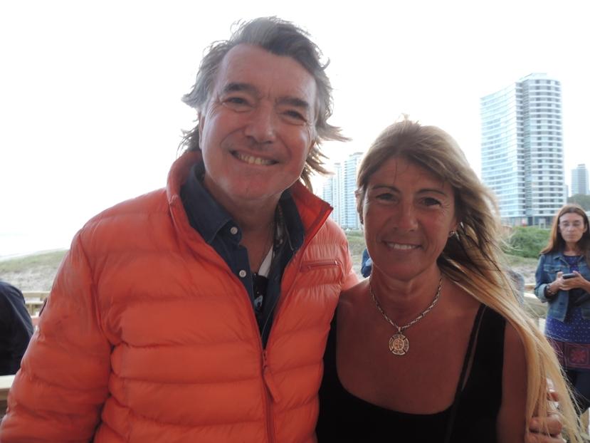 Empresario Pancho Dotto y Sicóloga - periodista Mercedes