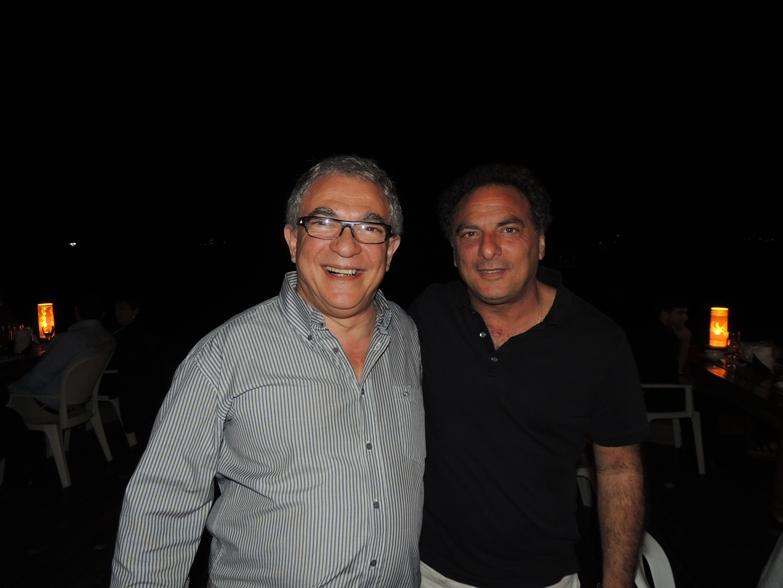 Director de Turismo de Maldonado Luis Borsari y Alcalde de Punta del Este Omar Jafif en festejo a la prensa del Intendente de Maldonado Dr. Antía.