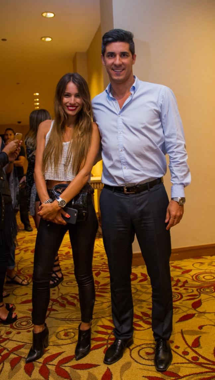 """Modelo argentina """"Pampita"""" Ardohaim y Director de RRPP y OVO Enjoy Conrad, Javier Azcurra"""