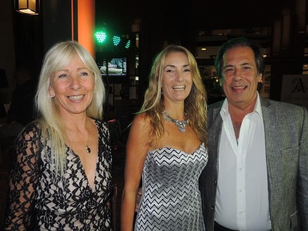 Escultora Claudia Bartolotta, Empresario G. Trelles y Sra.