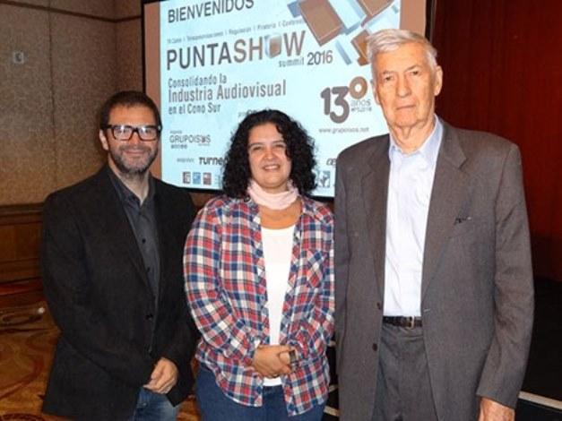 Pablo Arriola, Maria Noel Dminguez y Miguel Smirnoff, fundador de Prensario
